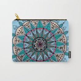 Leaf mandala in blue Carry-All Pouch