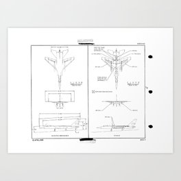 North American A3J-1 Vigilante Schematic Art Print