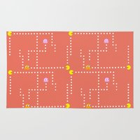 pacman Area & Throw Rugs featuring Pacman by CATHERINE DONOHUE