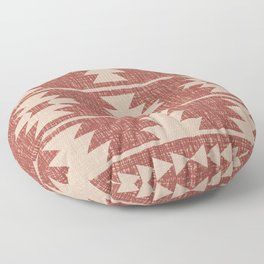 Southwestern Pattern 135 Sienna and Beige Floor Pillow