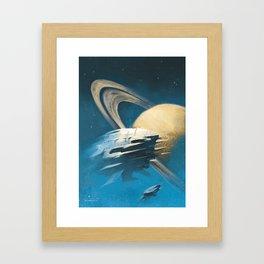 """The Saturn Run"" Framed Art Print"