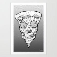 Skull Slice BW Art Print