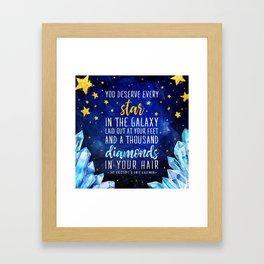 Star and Diamonds Framed Art Print