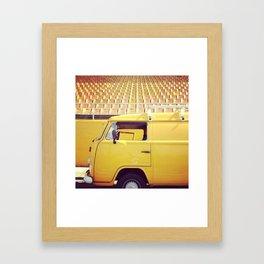 yellow/yellow Framed Art Print