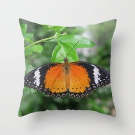 Butterfly Gardens 3 Throw Pillow