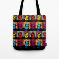 notorious big Tote Bags featuring The Notorious BIG by 50mlDesigns