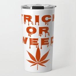 Halloween Cannabis Weed Travel Mug