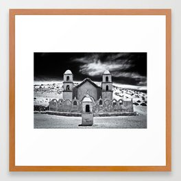 the church in the dunes Framed Art Print