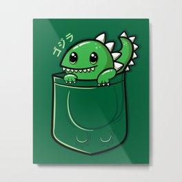 Pocket Godzilla Metal Print