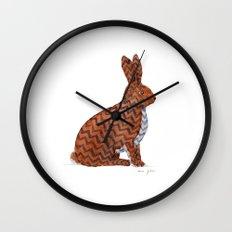 zig zag rabbit Wall Clock