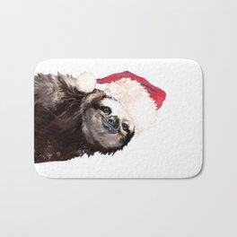Christmas Sloth Bath Mat