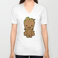 starlord V-neck T-shirts featuring Tree by Papyroo