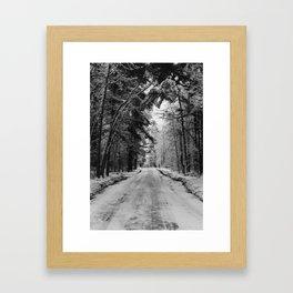 Ice Street Framed Art Print