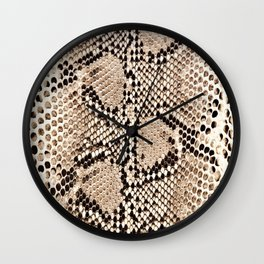 Snake skin art print Wall Clock