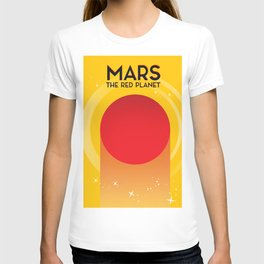 MARS - The Red Planet Sci-fi poster in a vintage style. T-shirt