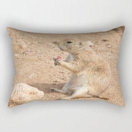 Prairie Dog Snack Time Rectangular Pillow