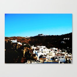 Mykonos village Canvas Print