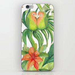 Jungle Tropical Watercolor Greenery Botanical iPhone Skin