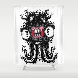 Ink Ghostie Squid Shower Curtain