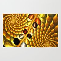 fractal Area & Throw Rugs featuring Fractal by Digital-Art