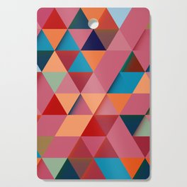 Colorfull abstract darker triangle pattern Cutting Board
