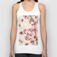 sakura Tank Tops featuring Sakura by Laura Ruth