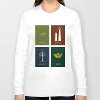 lord of the rings Long Sleeve T-shirts featuring Lord of the Rings - Complete Minimalist Collection by Jamesy
