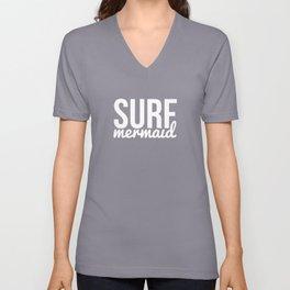 Surf mermaid Unisex V-Neck