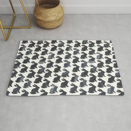 Rabbit Chalkboard Pattern by Robayre Rug