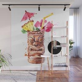 Watercolor Tiki Wall Mural