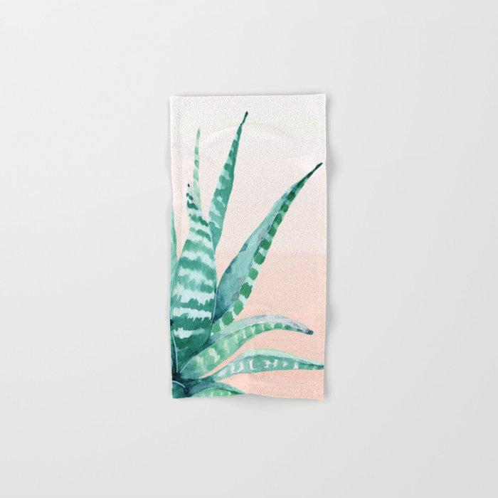 Desert Succulent Aloe Vera Hand & Bath Towel