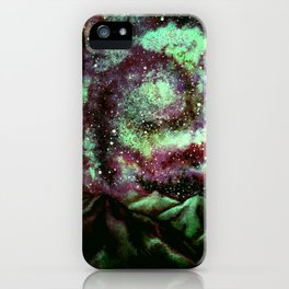 The Night Comet, Green iPhone Case