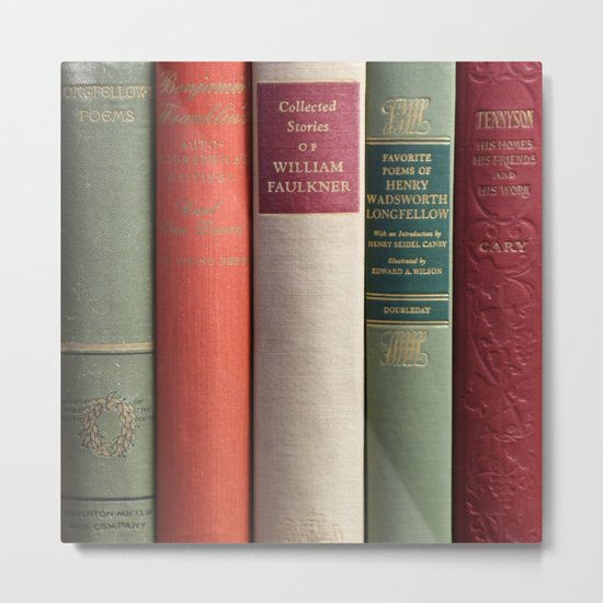 Old Books - Square Metal Print