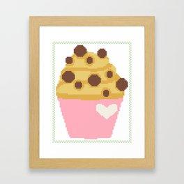 Chocolate chip muffin Framed Art Print