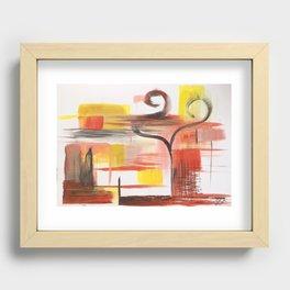 Love Swans Recessed Framed Print