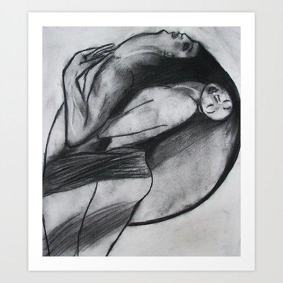 LOVERS  (ORIGINAL SOLD) Art Print
