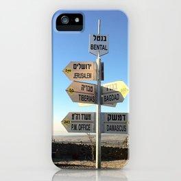 CrossRoads in Israel iPhone Case