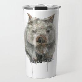 Wombat watercolour Travel Mug
