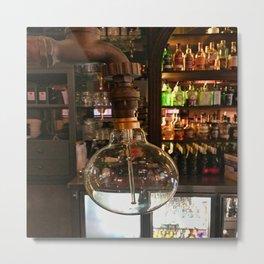 Bar Lightbulb  Metal Print