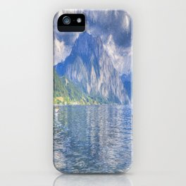 Traunsee Lake Altmunster Art iPhone Case