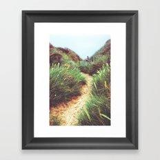 the way through the dunes Framed Art Print