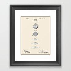 Golf Ball Patent - Colour Framed Art Print