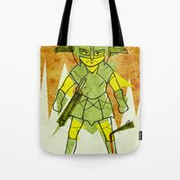 skyrim Tote Bags featuring Dragonborn by Studio Acramill