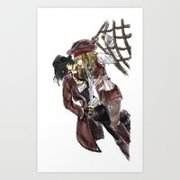 pirates Art Prints featuring PIRATES. by Maryne.