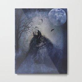Horse under the moonlight Metal Print