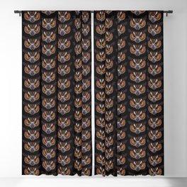 Great Horned Owl Head Blackout Curtain