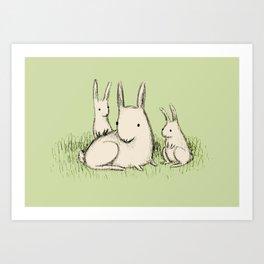 Bunny Family Art Print