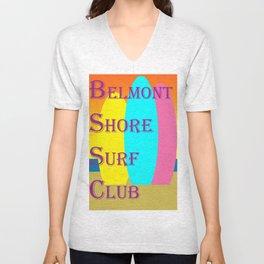 Belmont Shore Surf Club Unisex V-Neck
