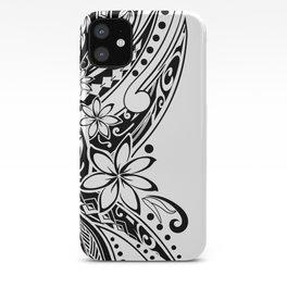 Hawaiian - Samoan - Polynesian Black Tribal iPhone Case