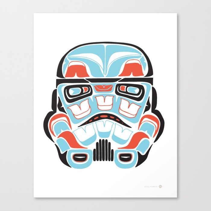 Skull Warrior - Alliance Is Rebellion - Stormtrooper,  Canvas Print